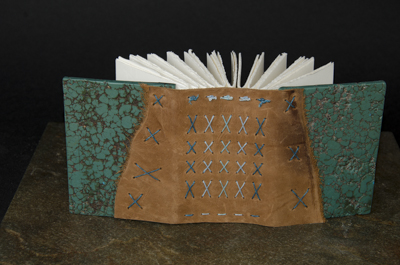 Small Turquoise Journal - Binding