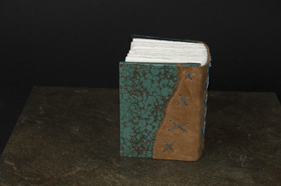 Small Turquoise Journal - Back