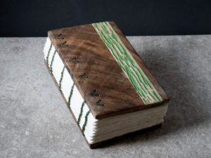 Walnut Journal with Oak Inlay: Front View